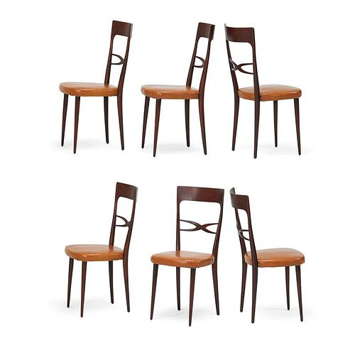 MELCHIORRE BEGA Six dining chairs