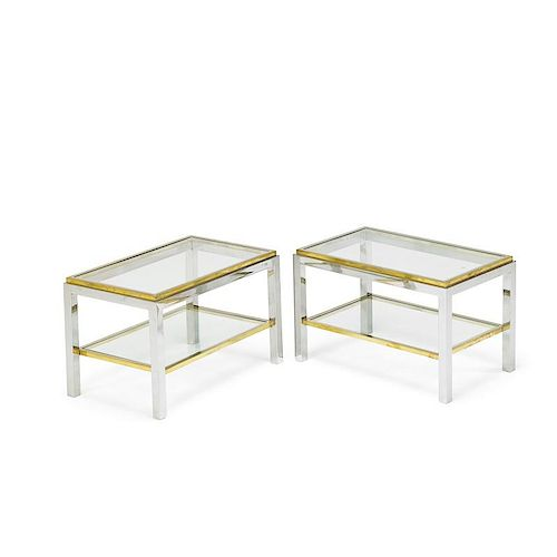 WILLY RIZZO Pair of side tables