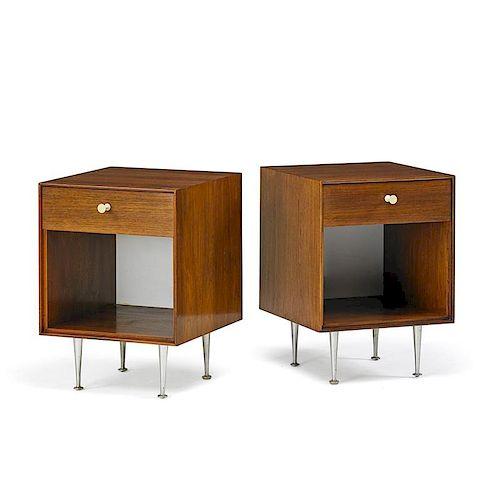 GEORGE NELSON Thin Edge headboard, nightstands