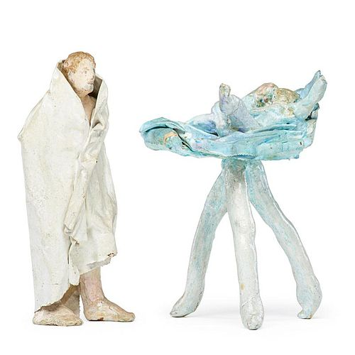 DAVID LUBIN Two sculptures