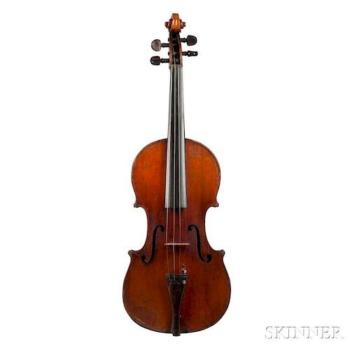 German Violin, unlabeled, length of back 357 mm.