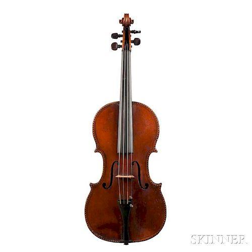 French Violin, Mirecourt, branded internally AUDINOT., length of back 369 mm.