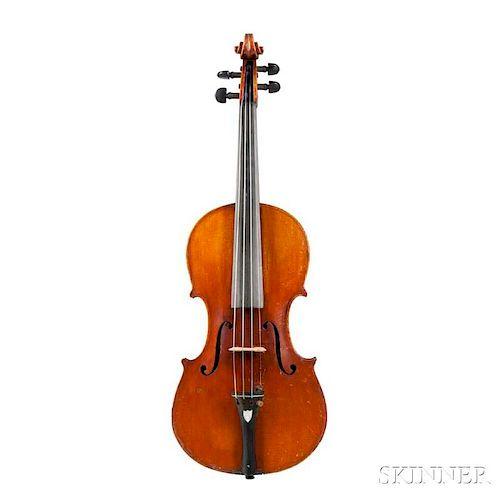 American Violin, John Albert Workshop, Philadelphia, c. 1890, branded internally J. ALBERT/MANUFACTURER/OF/AMERICAN * VIOLINS