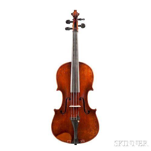 German Violin, labeled Antonius Stradiuarius Cremonensis/Faciebat Anno 1735, also labeled Made In Germany, length of back 359