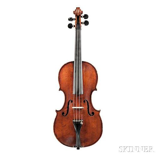 Violin, Ascribed to Jacob Horil, labeled Jacobus Horil musicus instru-/mentalis fecit Romae Anno 1755, length of back 358 mm,