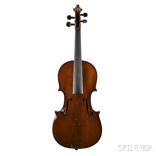 French Violin, Jenny Bailly, Paris, 1919, bearing the maker's label, length of back 359 mm.