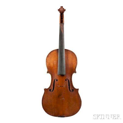 Violin, labeled Giovanni Fichera/fece in Napoli 1939, length of back 357 mm.