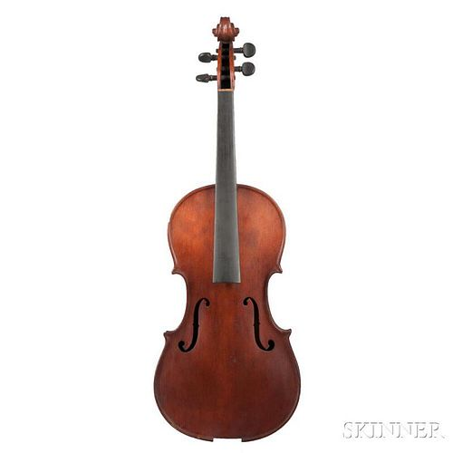 American Violin, W. Wilkanowski, unlabeled, length of back 361 mm, with case.