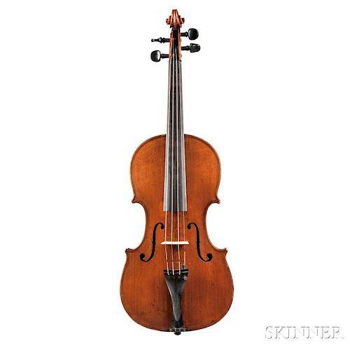Violin, c. 1900, labeled Gustav Methfessel fecit./Bernae Anno 1899, length of back 361 mm, with case.
