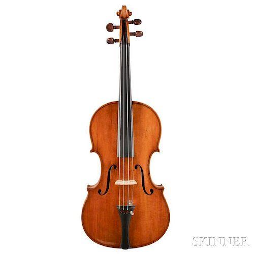 English Violin, John Joseph Reddall, Birmingham, 1895, inscribed on upper back, labeled Domenicus Antonio Marino. Esatta Copi