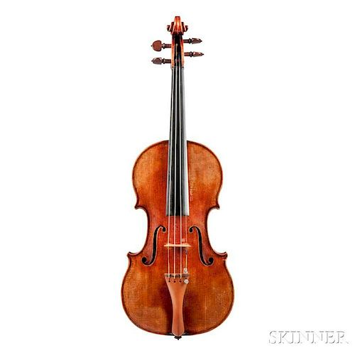 German Violin, Heinrich Th. Heberlein, Jr., 1957, no. 1008, bearing the maker's label, length of back 357 mm, with case and s