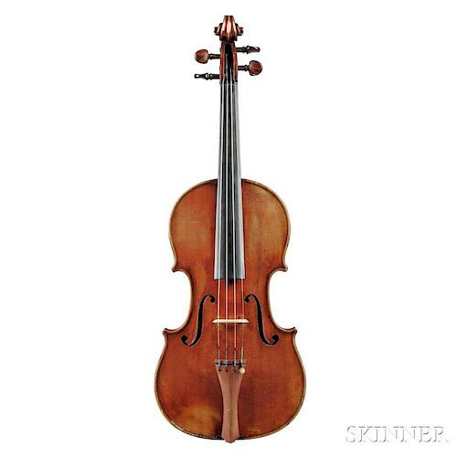 French Violin, Joseph Hel, Lille, 1891, labeled Joseph HEL/Luthier à LILLE 1891., stamped internally Exposition Universelle