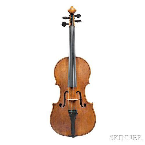 Composite Violin, Alessandro Mezzadri, Ferrara, 1723, labeled Alessandro Mezzadri/Fece in Ferrara l' Anno/1723, the table and