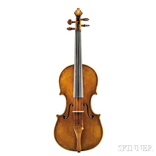 Italian Violin, Carlo Ferdinando Landolfi, Milan, c. 1772, labeled Carlo Ferdinando Landolfi ./nella Contrada di Santa Margar
