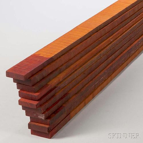 Ten Pernambuco Boards, of varying dimensions, approximate lg. 39 in., weight 15.6 lbs.Provenance: The estate of Randy L. Stee