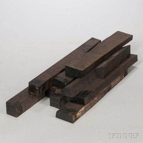 Nine Ebony Boards, weight 12.2 lbs.Provenance: The estate of Randy L. Steenburgen.