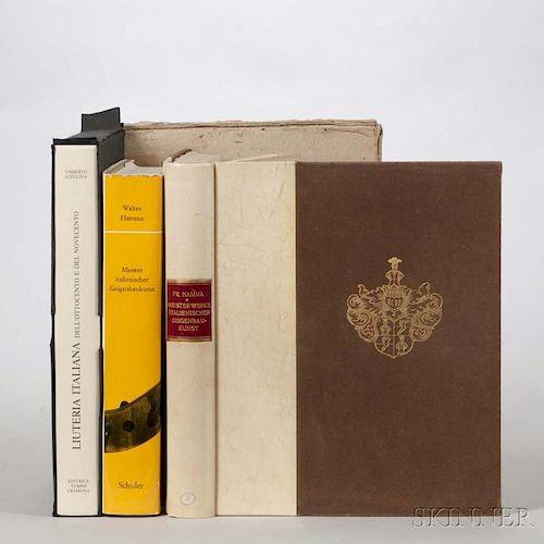 Three Books on Italian Violins, Azzolina, Umberto, Liuteria Italiana; Hamma, Fridolin, Meisterwerke Italienischer Geigenbauku