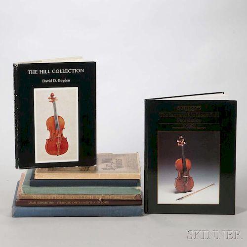 Eight Violin Catalogs, The Henry Hottinger Collection; The Hawley Collection of Violins; Rare Violins, Violas, Violoncellos,