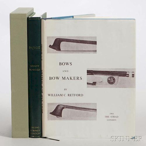 Two Books on Bows, Bowden, Sidney, Pajeot; and Retford, William C., Bows and Bow Makers.