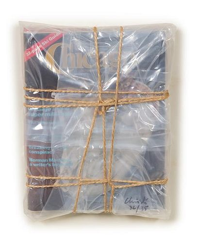Christo and Jeanne-Claude, (Bulgarian, b. 1935), Wrapped Chicago Magazines, 1983