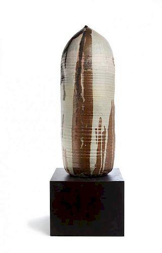 Toshiko Takaezu, (American, b. 1929), Moonpot with rattle