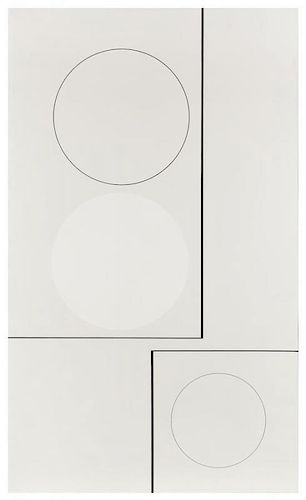 Richard Lin, (British/Chinese, 1933-2011), Composition-Three Circles I, 1960
