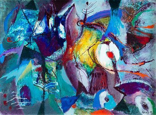 Willi Ulfig, (German, 1910-1983), Landscape III, 1972