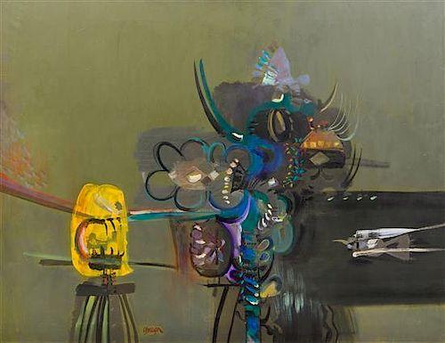 * Alejandro Obregon, (Colombian, 1920-1992), Jardines Tropicales, 1962