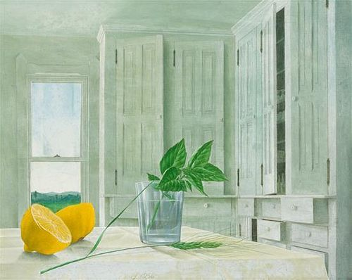John Wilde, (American, 1919-2006), Interior with Lemons, 1956