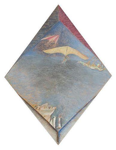 Jeffery Camp, (British, 1923), Over the Lighthouse, 1982