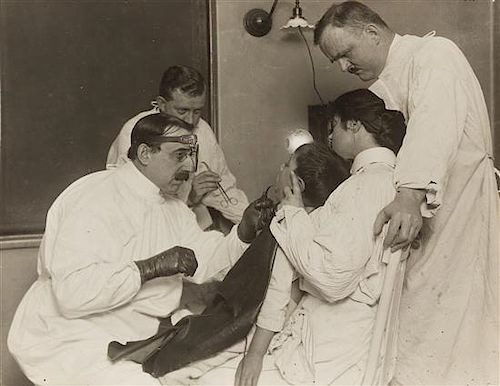 Lewis Wickes Hine, (American, 1874-1940), Operation for Tonsils in a Large Public Clinic. Some Years Ago, 1910