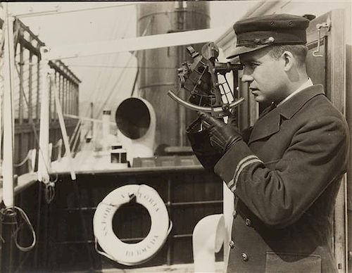 Lewis Wickes Hine, (American, 1874-1940), Ship's Officer Coastline Steamer