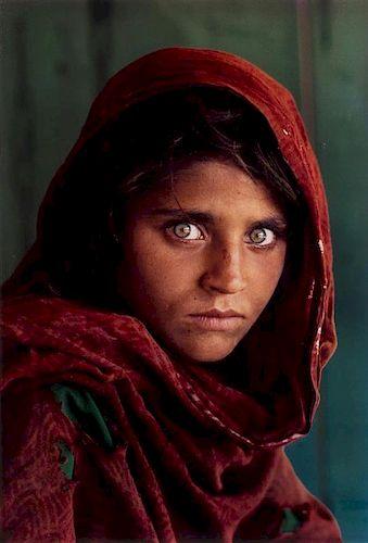 Steve McCurry, (American, b. 1950), Afghan Girl, Sharbat Gula, Peshawar, Pakistan, 1984