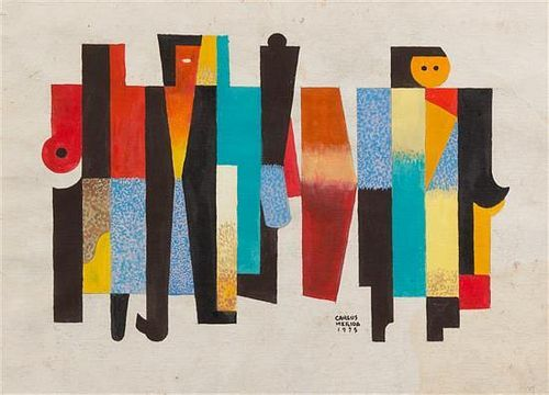 * Carlos Merida, (Guatemalan, 1891-1984), Sin Titulo, 1975