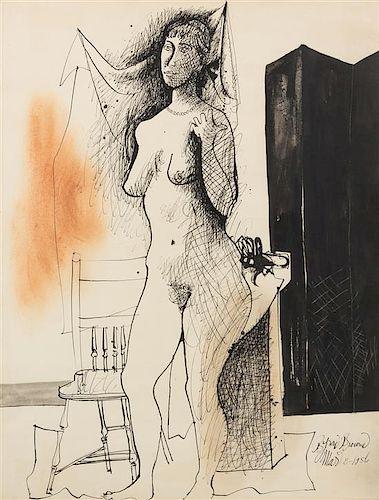 Byron Browne, (American, 1907-1961), Damsel, 1956