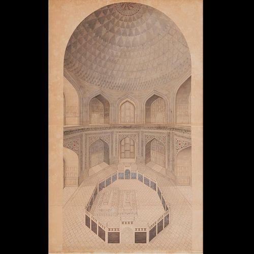Agra School, Taj Mahal painting