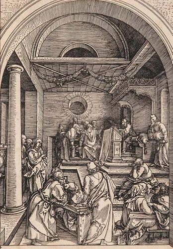 Albrecht Dürer (German, 1471-1528)      Christ Among the Doctors