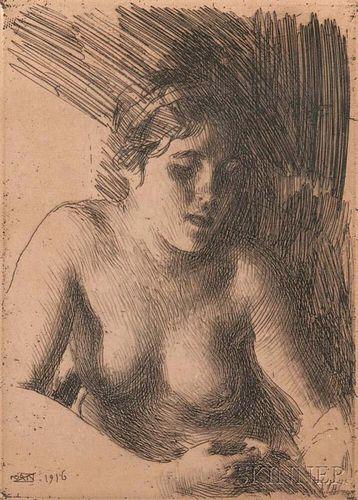 Anders Zorn (Swedish, 1860-1920)      Bust