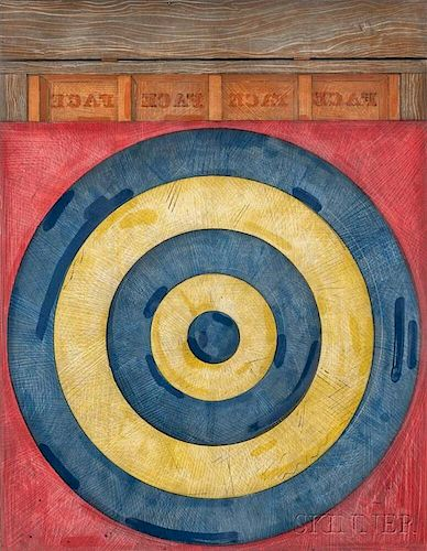 Jasper Johns (American, b. 1930)      Target with Four Faces