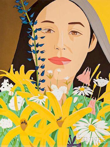 Alex Katz (American, b. 1927)      Ada with Flowers