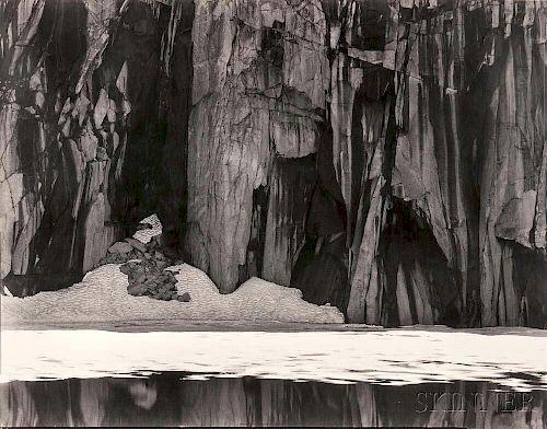 Ansel Adams (American, 1902-1984)      Frozen Lake and Cliffs, Sierra Nevada, Sequoia National Park, California