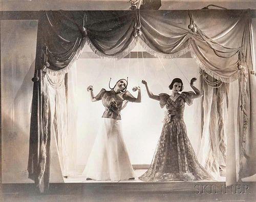 Cecil Beaton (British, 1904-1980)      Mock Puppet Theatre (Angelica Welldon and Nina Matleva) for Vogue