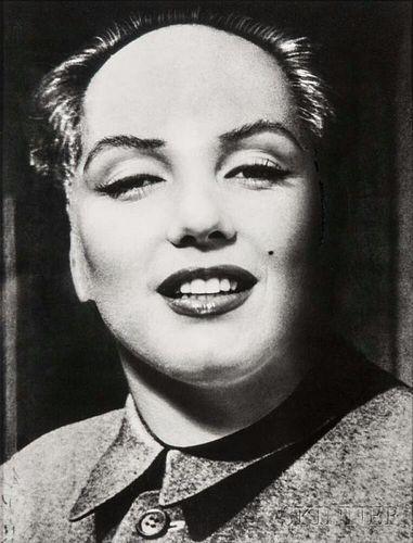 Philippe Halsman (American, 1906-1979)      Marilyn-Mao