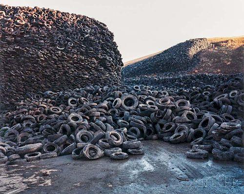 Edward Burtynsky (Canadian, b. 1955)      Oxford Tire Pile #5, Westley, California