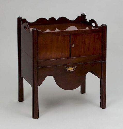 George III Mahogany Bedside Cupboard