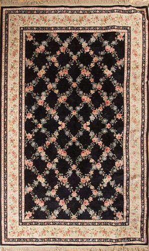 Chinese Black-Ground Carpet