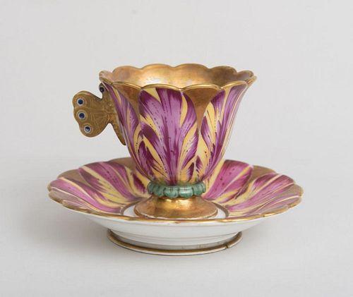 English Porcelain Teacup and Saucer