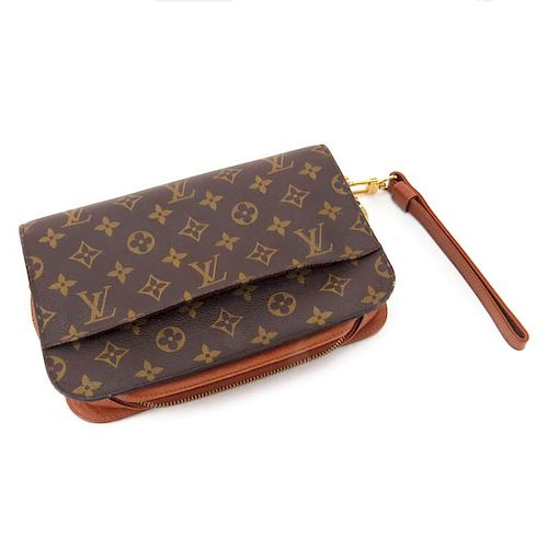 a18209e7ba70 Louis Vuitton Monogram Canvas His Or Hers Orsay Clutch Bag With ...
