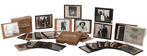 Collection of Lantern Slides from Houdini's Spiritualism Lecture.