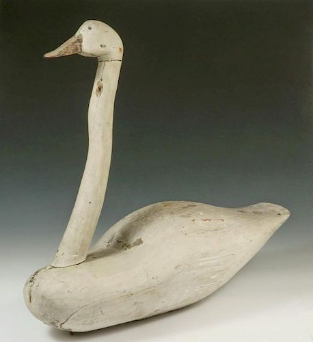 RARE SWAN DECOY, ATTRIBUTED TO JOHN CANNON WATERFIELD